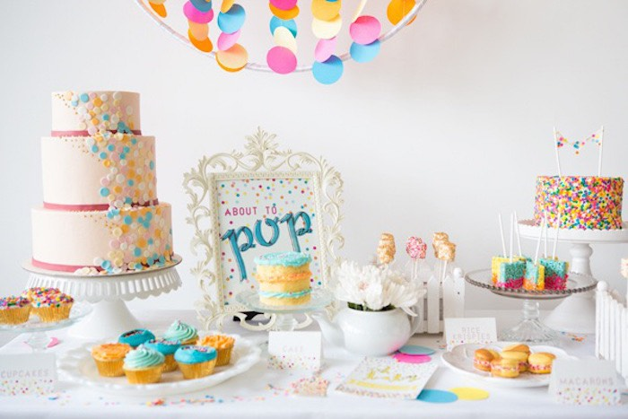 Confetti & Sprinkles Baby Shower Sweets table