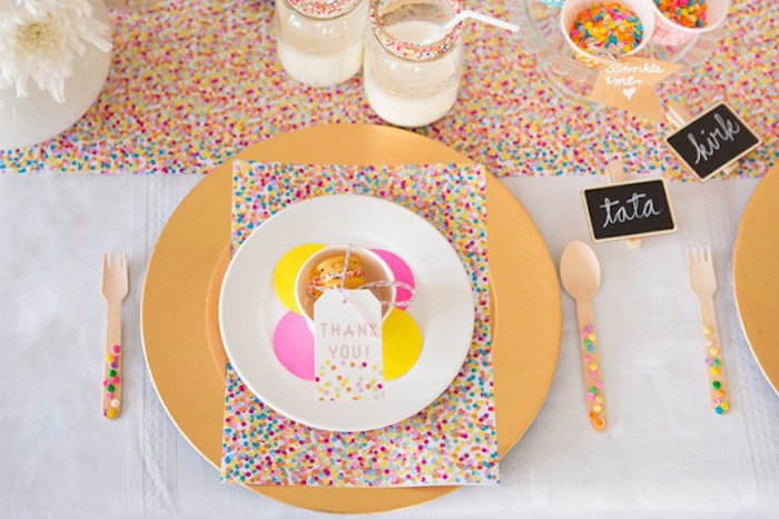 Confetti & Sprinkles Baby Shower Tablescape