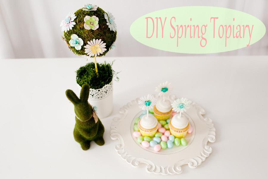 DIY Spring Topiary