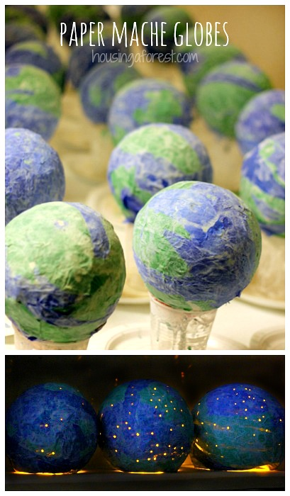 Earth-Day-Crafts-for-kids-Paper-Mache-Globes