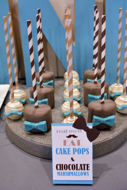 Mustache 1st Birthday Party Marshmallow Pops