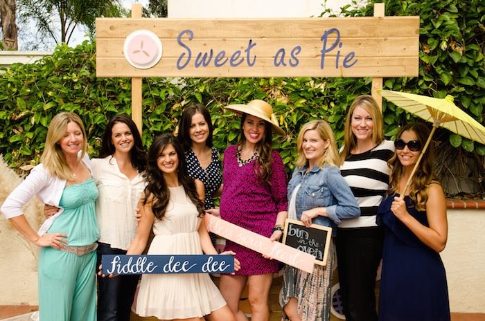 Sweet as Pie Baby Shower Group Shot