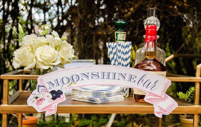 Sweet as Pie Baby Shower Moonshine bar