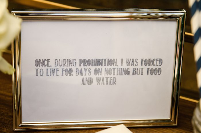 Sweet as Pie Baby Shower Prohibition Sign
