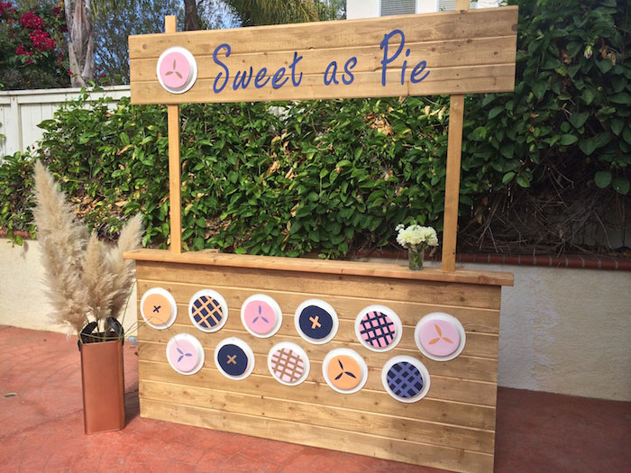 Sweet as Pie baby Shower Pie Stand