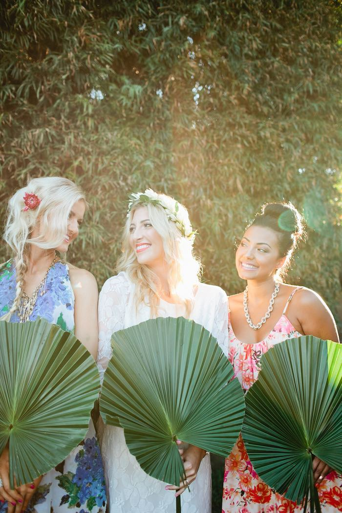 Aloha Luau Bridal Shower Fans