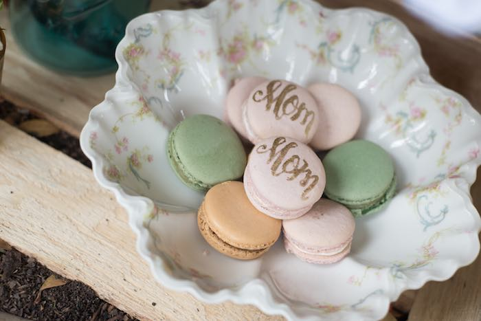 mothers day party macarons