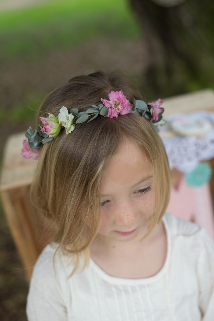 mothers day party floral wreath