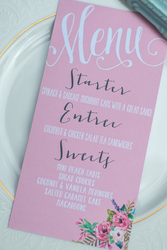 mothers day party menu