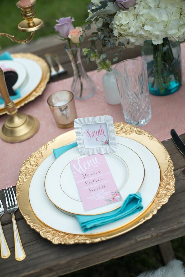 mothers day party place setting