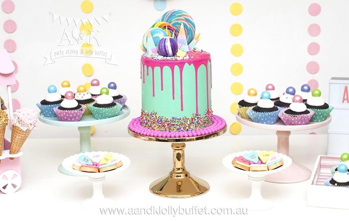 Pastel Ice Cream Party Dessert Table