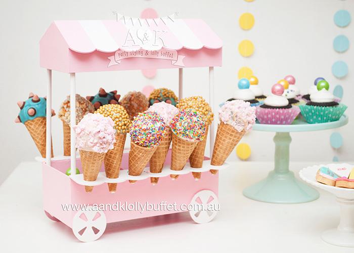 Frozen Themed Ice Cream Cake