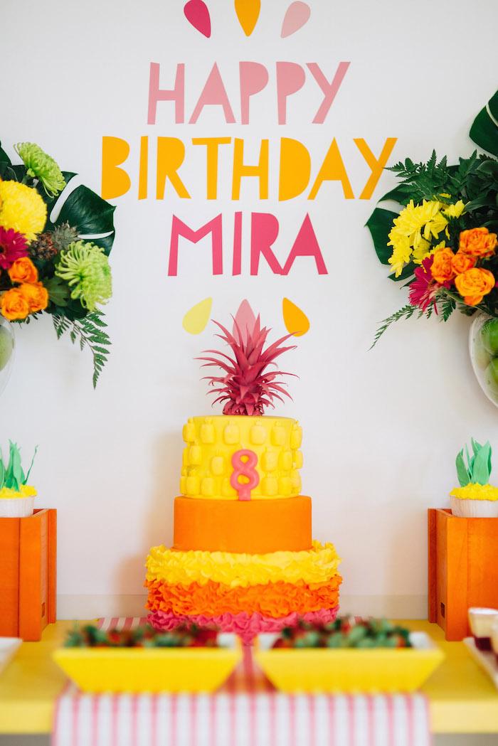 Tutti Frutti Birthday Party Backdrop