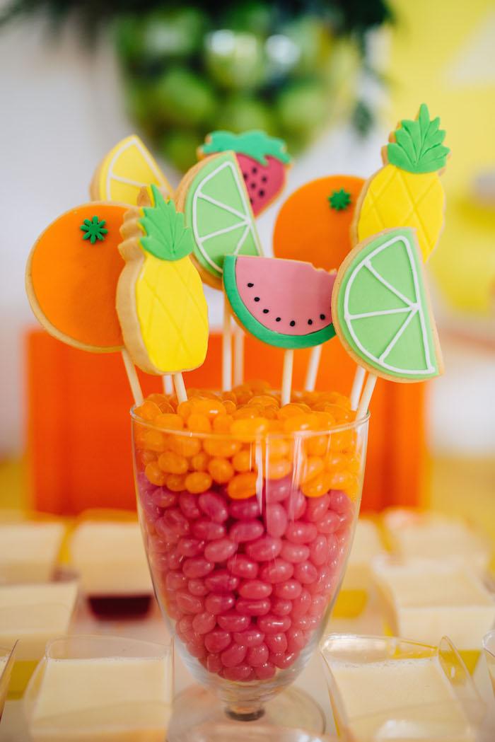 Tutti Frutti Birthday Party Cake Pops
