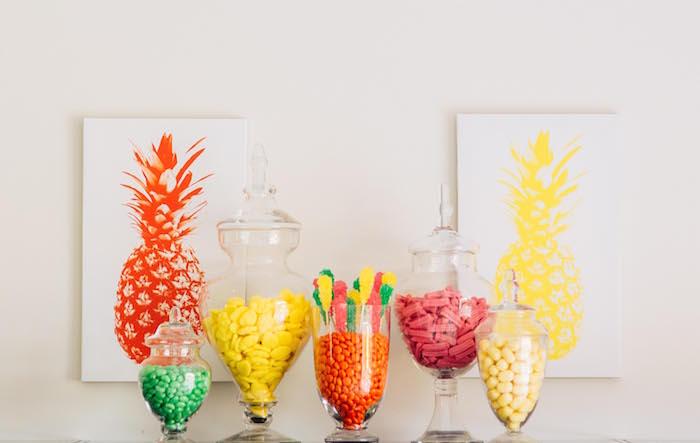 Tutti Frutti Birthday Party Candy Buffet