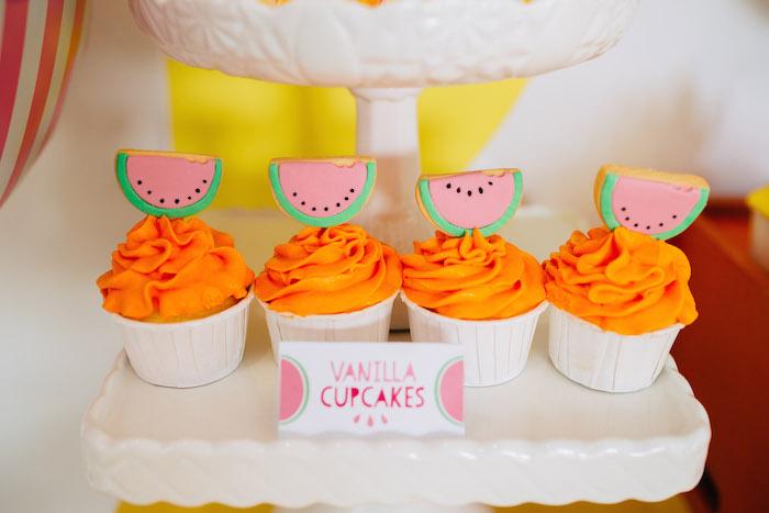 Tutti Frutti Birthday Party Cupcakes