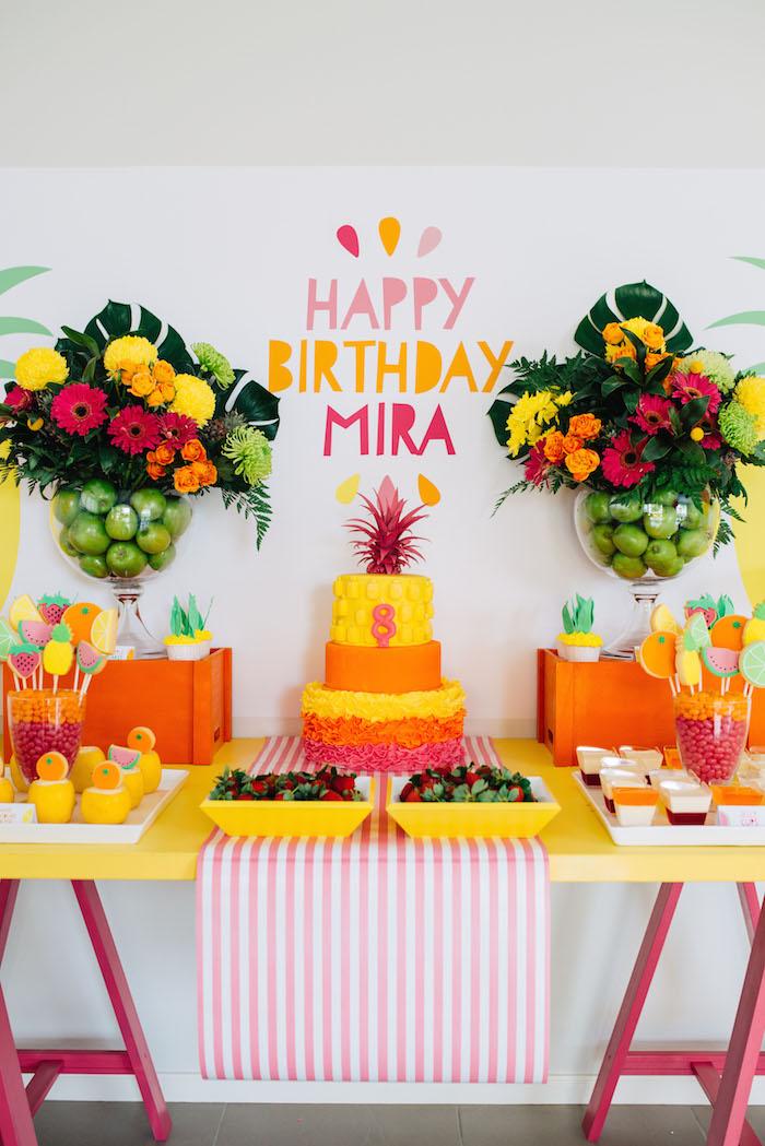 Tutti Frutti Birthday Party Dessert Display