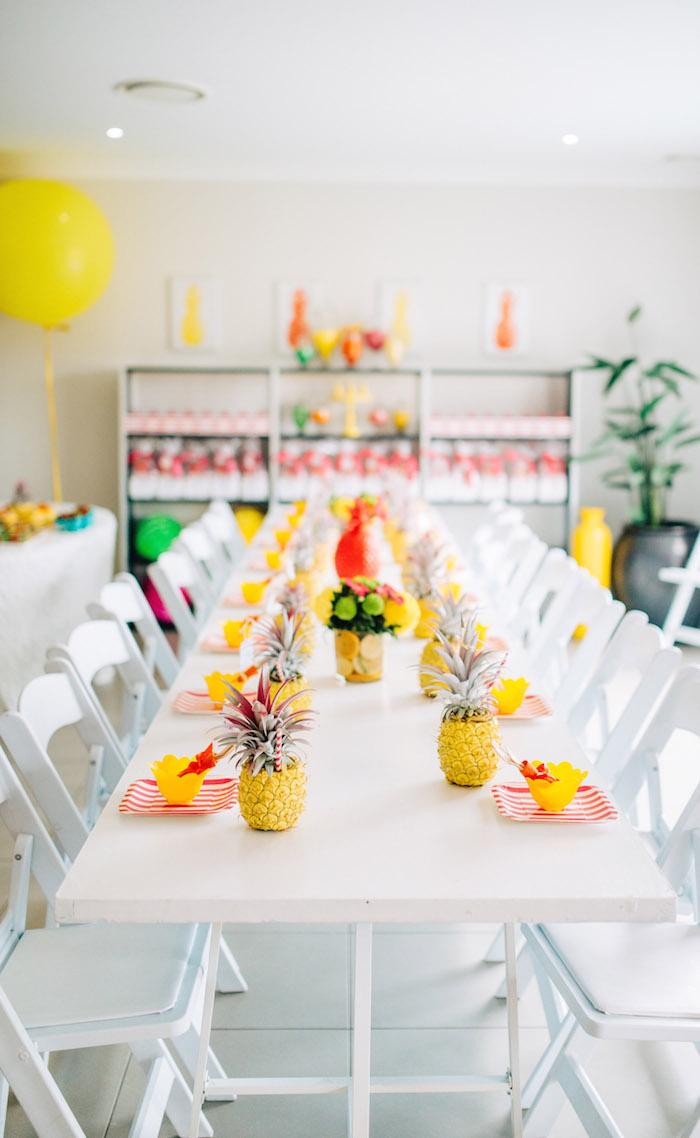 Tutti Frutti Birthday Party Dining Table