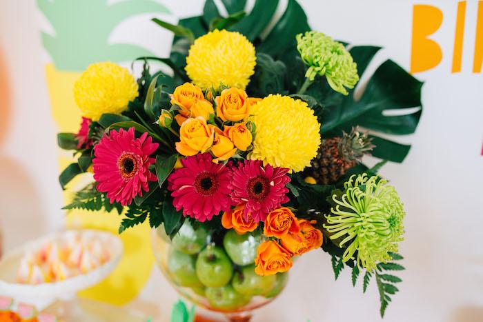 Tutti Frutti Birthday Party Flowers