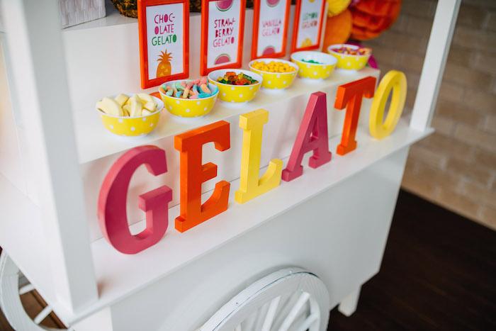 Tutti Frutti Birthday Party Gelato Stand 2