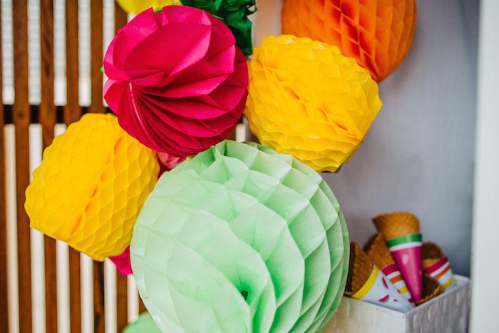 Tutti Frutti Birthday Party Honeycombs