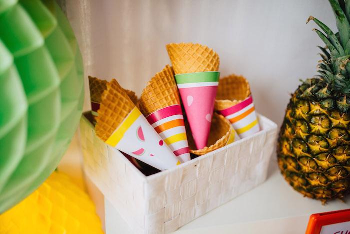 Tutti Frutti Birthday Party Ice Cream Cones