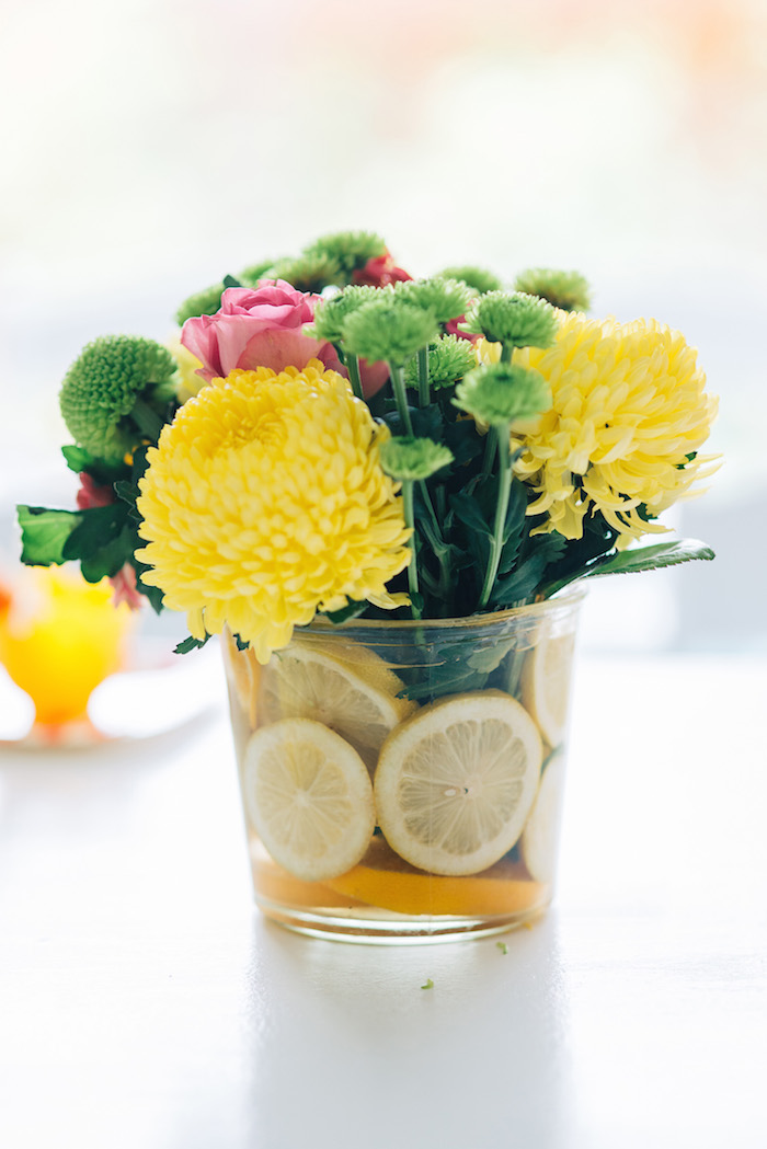 Tutti Frutti Birthday Party Lemon flowers