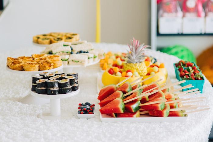 Tutti Frutti Birthday Party Party Food