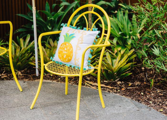 Tutti Frutti Birthday Party Pineapple Pillow
