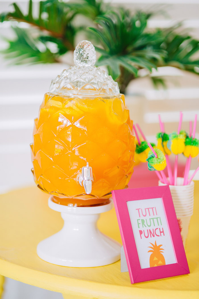 Tutti Frutti Birthday Party Punch