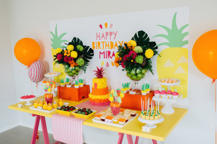 Tutti Frutti Birthday Party Sweets Table
