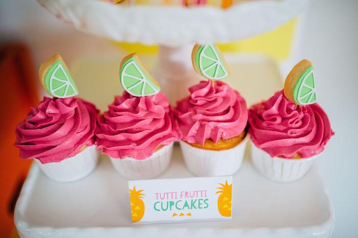 Tutti Frutti Birthday Party cupakes 2