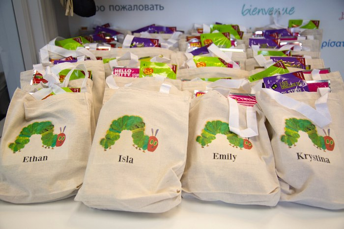 Very Hungry Caterpillar Party Favor Bags & Very Hungry Caterpillar Birthday Party
