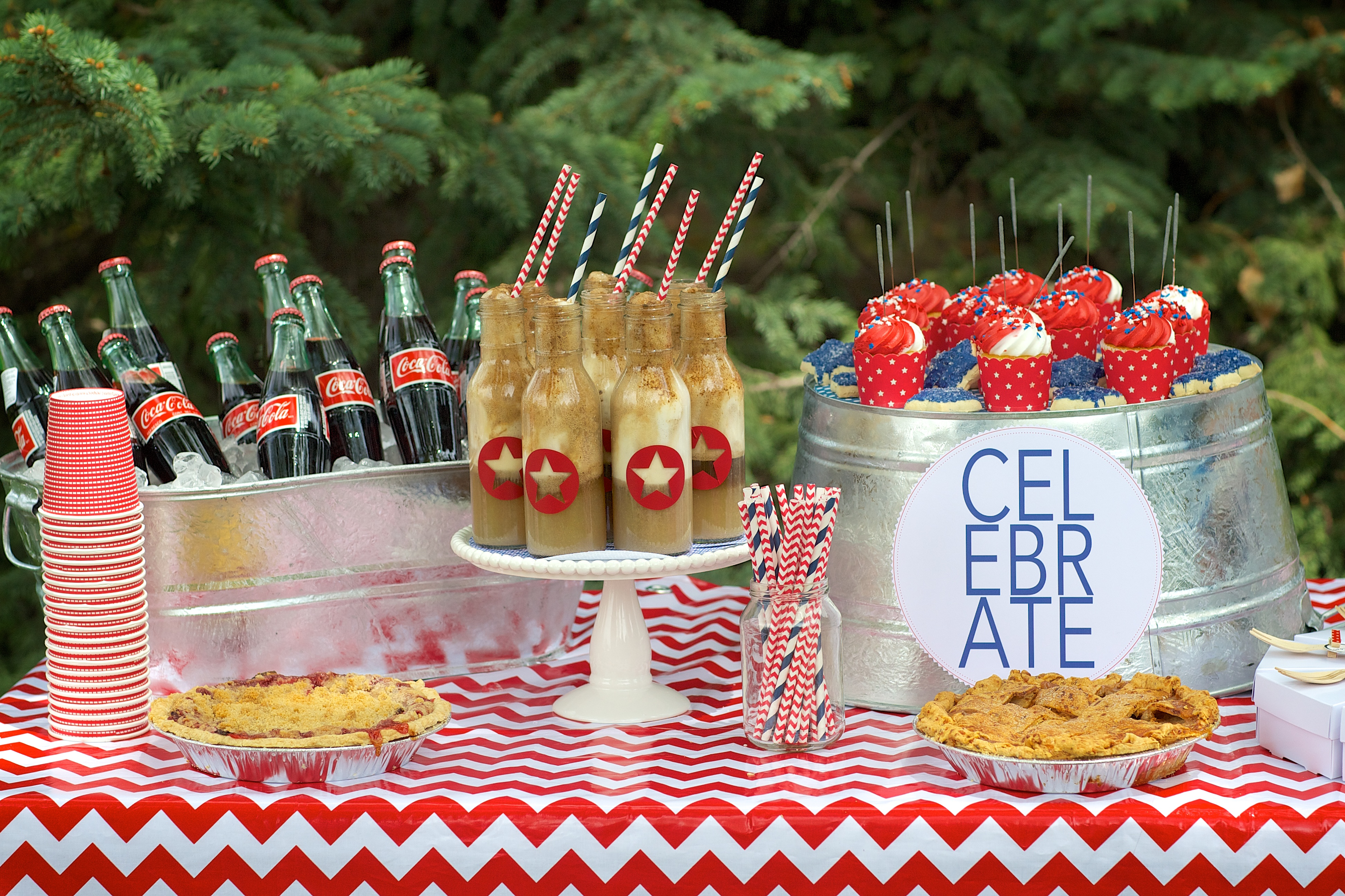 Entertaining Shoppe 4th of July Party Coke Floats