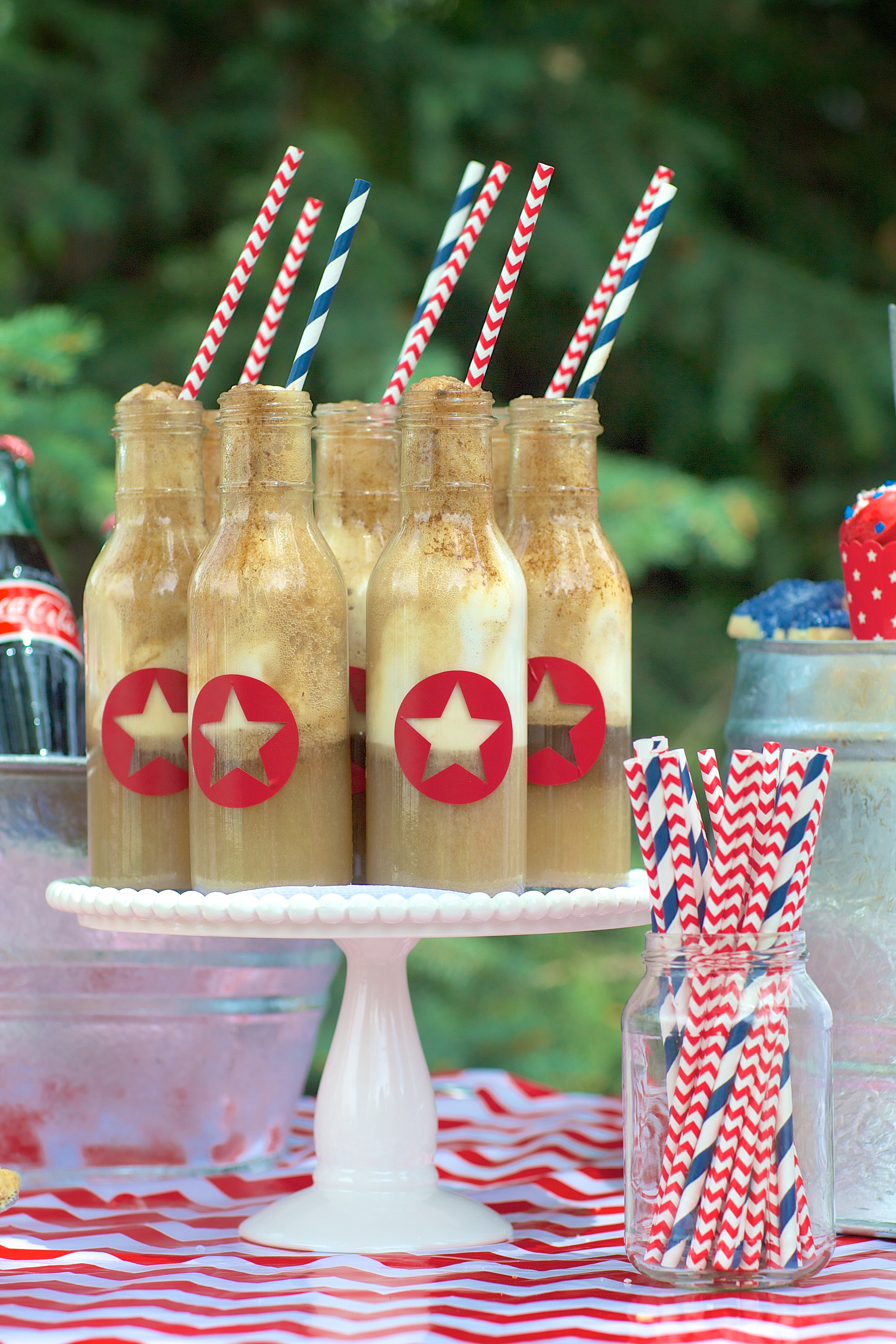 Entertaining Shoppe 4th of July Party Coke with Straws