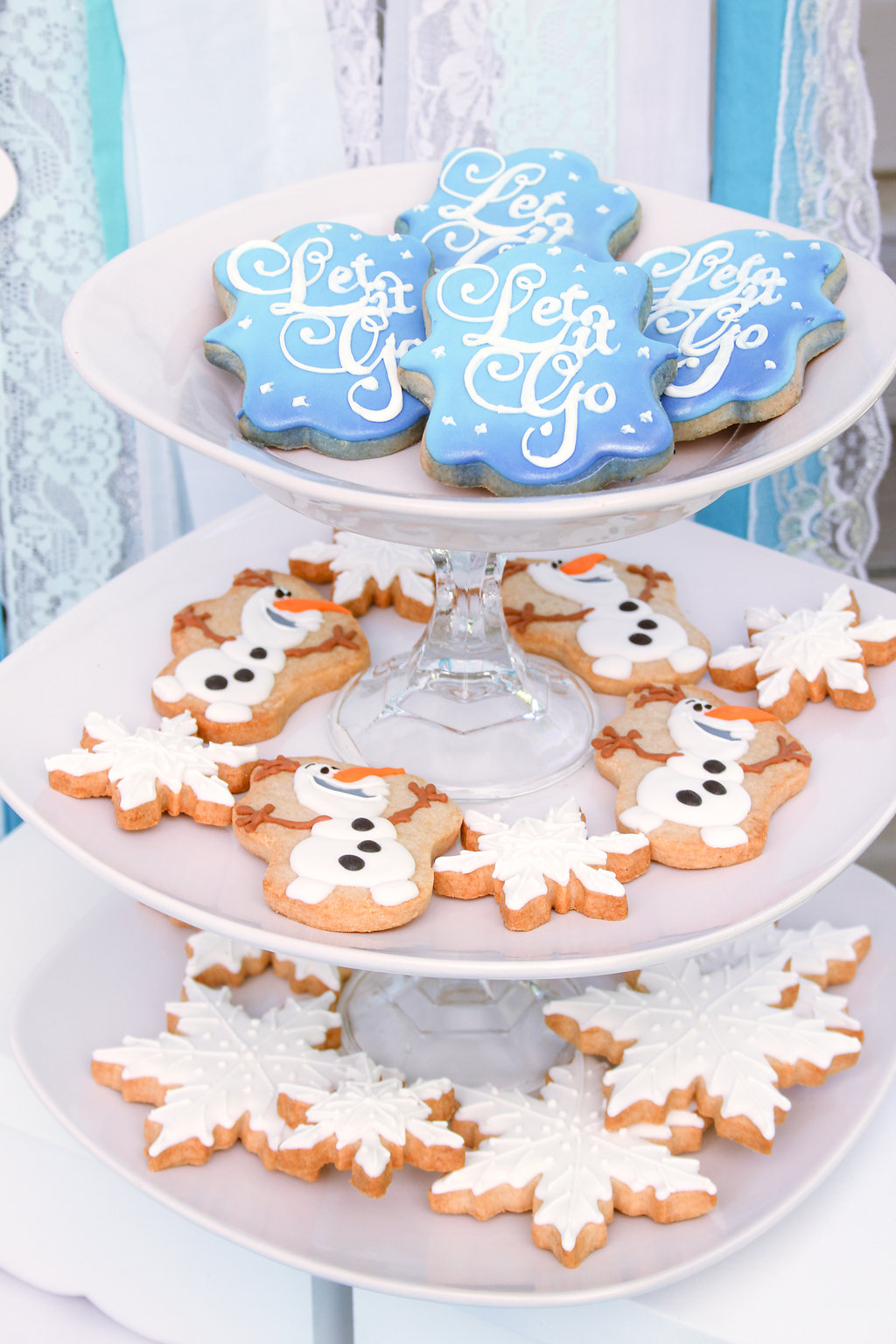 frozen party olaf cookies snowflake cookies and let it go cookies