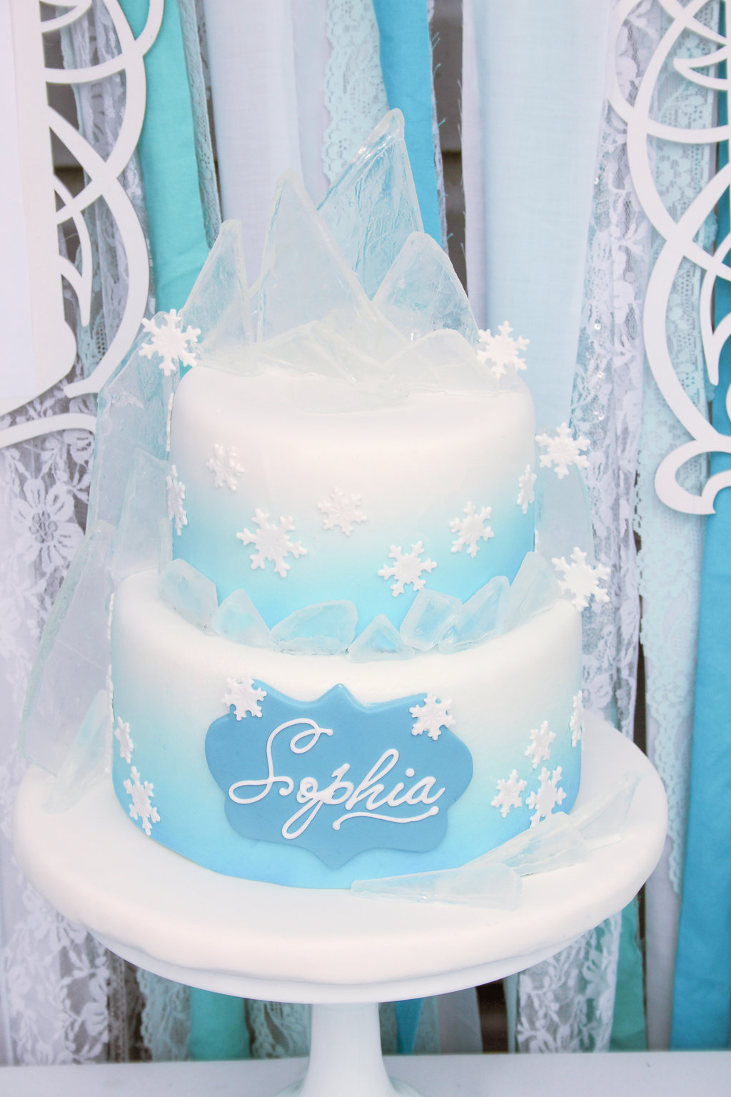 Elegant Ombre Frozen Party