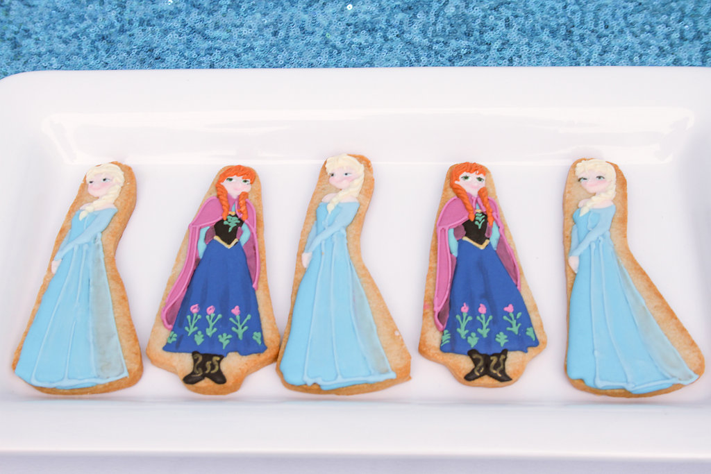 sweetly chic events & design frozen party anna and elsa cookies -