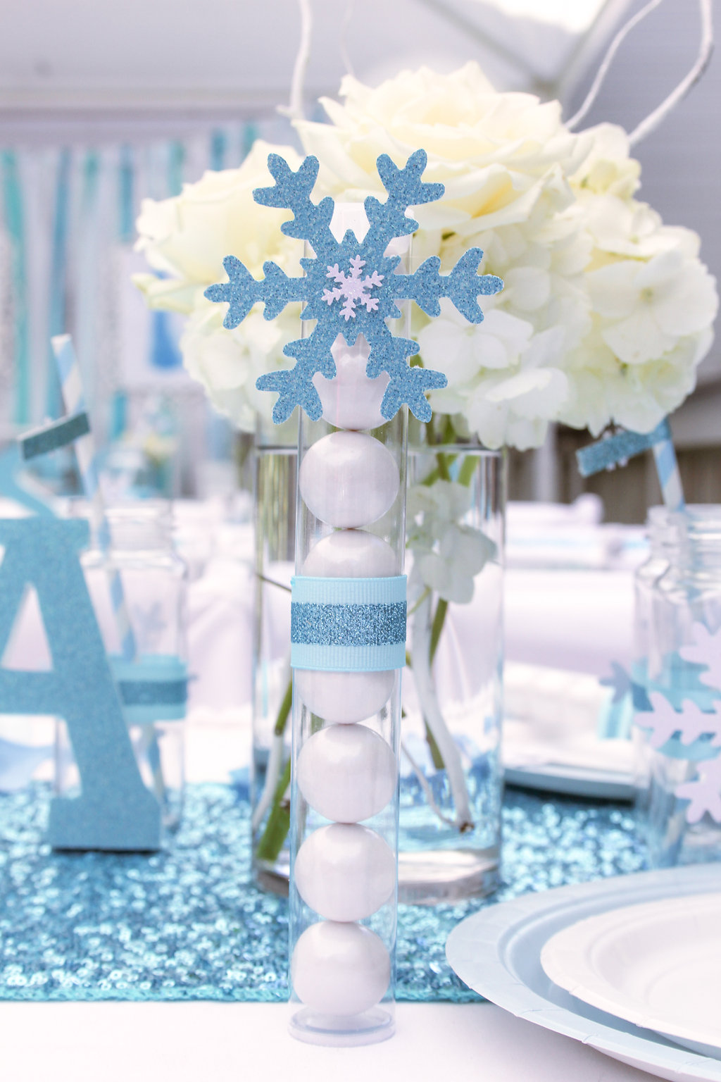 sweetly chic events & design frozen party gumball wand