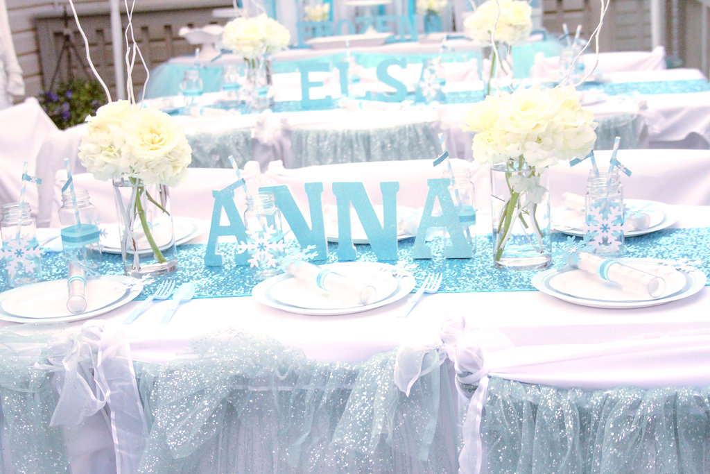 sweetly chic events & design frozen party kids tables