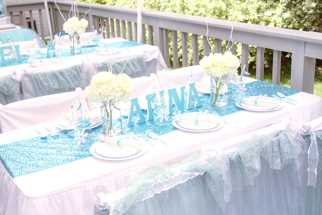 sweetly chic events & design frozen party kids table