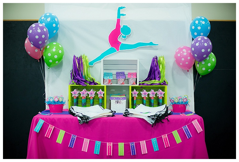 Colorful Gymnastics Party