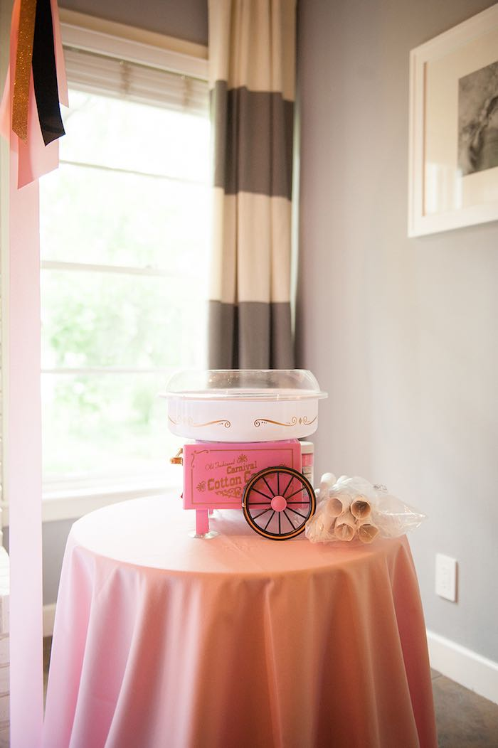 Girly Nautical First Birthday Party Cotton Candy