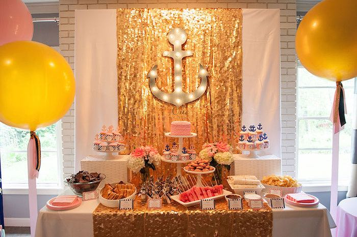 Girly Nautical First Birthday Party