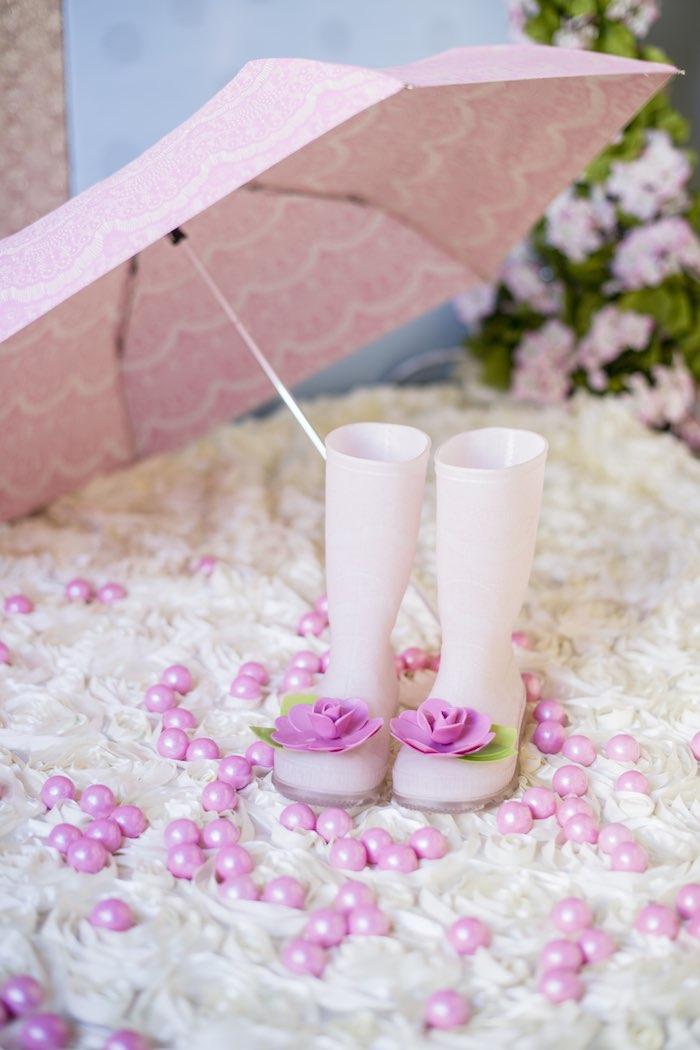 pink garden party rain gear