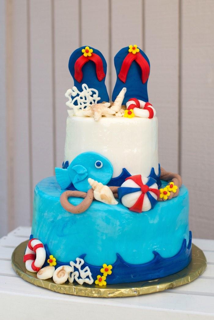 Splish splash pool party bash pool party cake sciox Choice Image