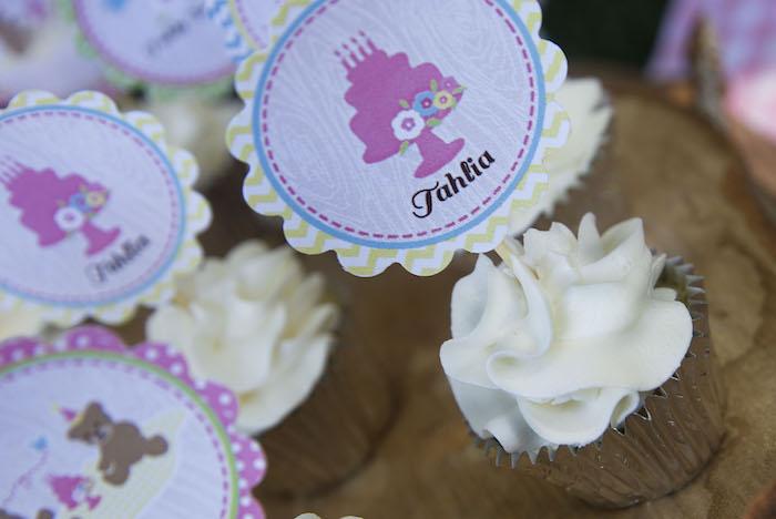 teddy bear picnic party cupcakes