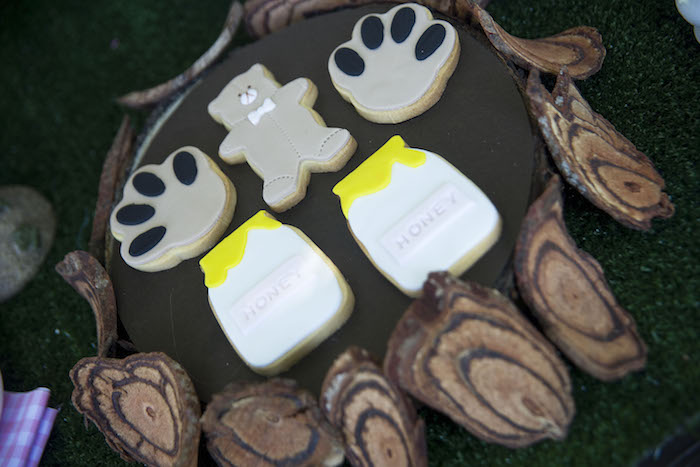 teddy bear picnic party cookies