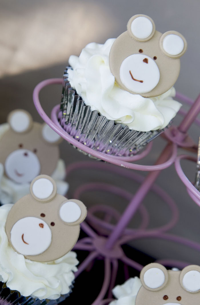 teddy bear picnic party bear cupcake toppers