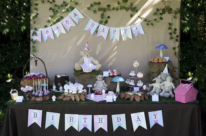 teddy bear picnic party table